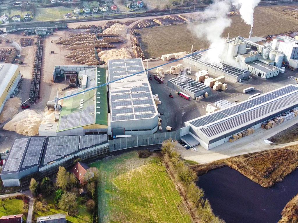 Photovoltaik Aufdach Vöcklamarkt 1600 kWp